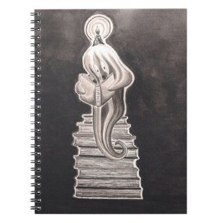 The Ghost Reader Spiral Note Book