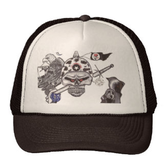 The Ghost& SKull Symbols & Secret Trucker Hat