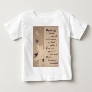 The Ghost & The Pumpkin (Vintage Halloween Card) Infant T-shirt