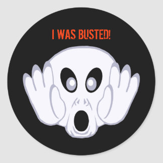 The Ghost Was Busted Classic Round Sticker