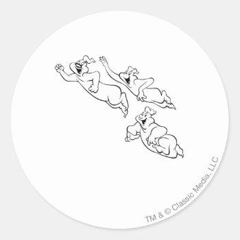 The Ghostly Trio 14 Classic Round Sticker by casper at Zazzle