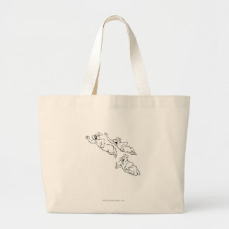The Ghostly Trio 14 Large Tote Bag
