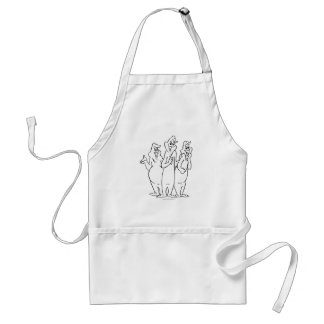 The Ghostly Trio 4 Adult Apron