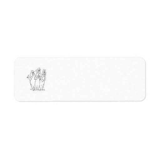 The Ghostly Trio 4 Custom Return Address Labels