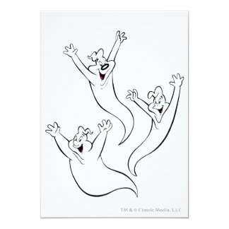 The Ghostly Trio 5 Personalized Invitations