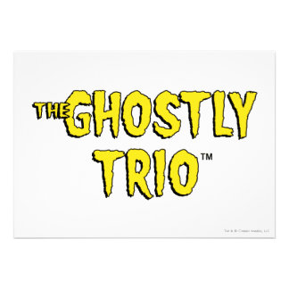 The Ghostly Trio Logo Personalized Invites