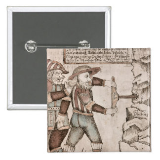 The giant Baugi, persuaded by Odin 2 Inch Square Button