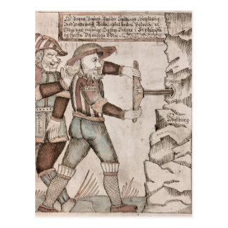 The giant Baugi, persuaded by Odin Postcard