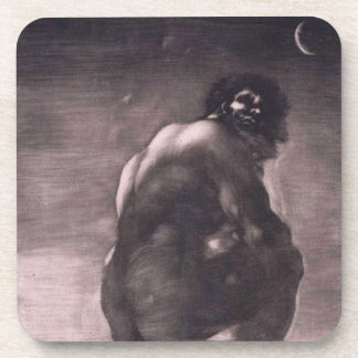 The Giant By Francisco de Goya Beverage Coaster