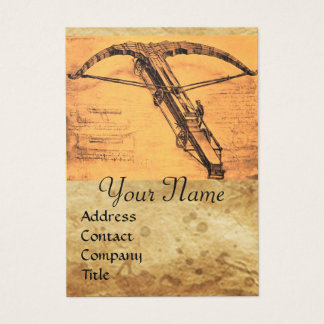 THE GIANT CROSSBOW MONOGRAM BUSINESS CARD