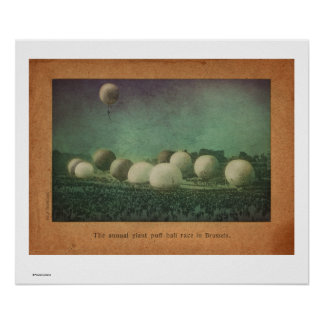 The Giant Puff Ball Race Poster