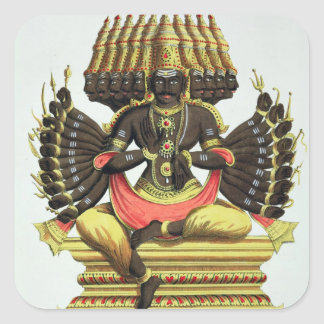 The Giant Ravana (colour litho) Square Sticker