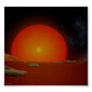 The giant red sun print
