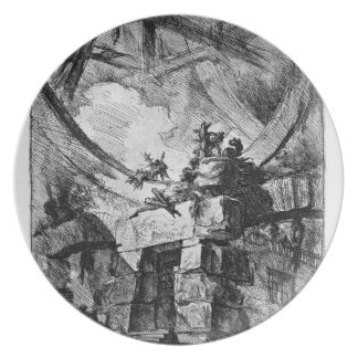 The Giant Wheel by Giovanni Battista Piranesi Dinner Plate