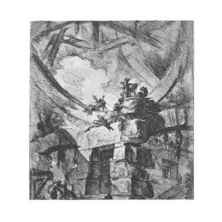 The Giant Wheel by Giovanni Battista Piranesi Notepad