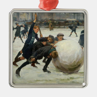 The Giantest Snowball, 1903 Metal Ornament
