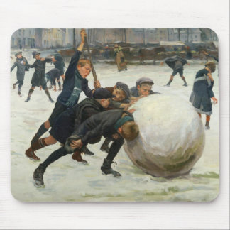 The Giantest Snowball, 1903 Mouse Pad