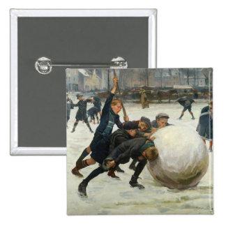 The Giantest Snowball, 1903 Pinback Button