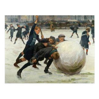 The Giantest Snowball, 1903 Postcard