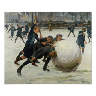 The Giantest Snowball, 1903 Poster