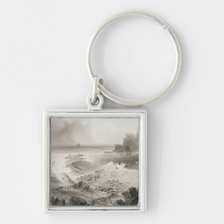 The Giant's Causeway from above Key Chain