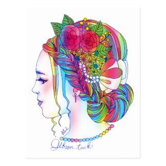 The Gibson Tuck post card (girl illustration of fl