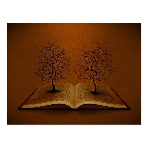 The GiddyUp Tree and The Bickham Script Tree Postcard