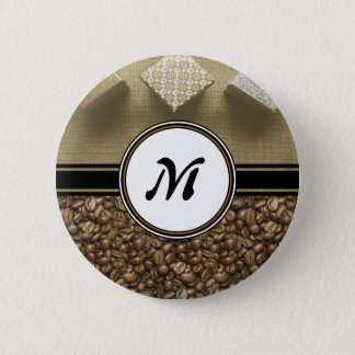 The Gift of Delicious Coffee Monogram Button