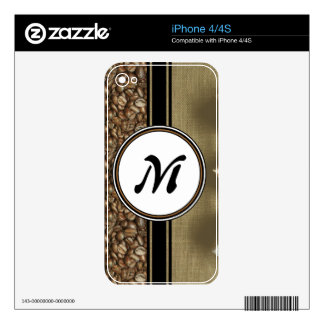 The Gift of Delicious Coffee Monogram Decal For iPhone 4