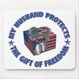 The Gift Of Freedom - Husband Mouse Pad