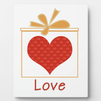 The Gift of Love Plaque with Easel