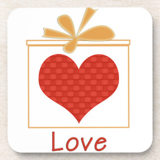 The Gift of Love Square Beverage Coaster