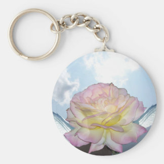 The Gift of The Peace Rose Basic Round Button Keychain