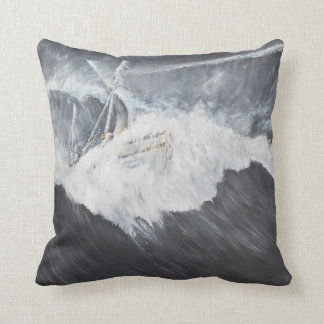 The Gigantic Wave Throw Pillow