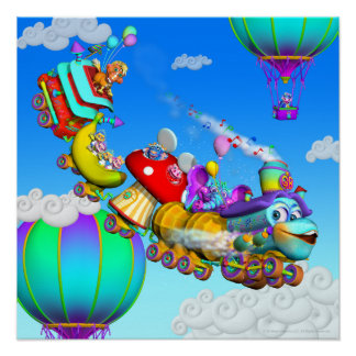 The GiggleBelly Train 18x18 Poster