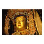 The gilded Jowo Buddha Statue, Jokhang Temple, Photographic Print