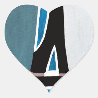 The Gimel letter Heart Sticker