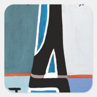 The Gimel letter Square Sticker