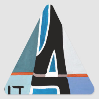 The Gimel letter Triangle Sticker