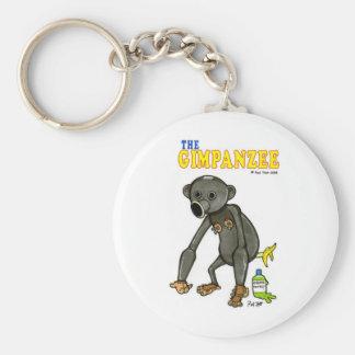 The Gimpanzee Basic Round Button Keychain