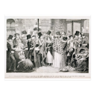 The Gin Shop, plate 1 of 'The Drunkard's Children' Postcard