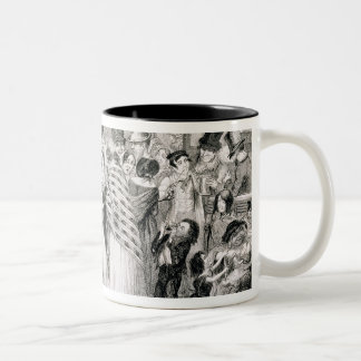 The Gin Shop, plate 1 of 'The Drunkard's Children' Two-Tone Coffee Mug
