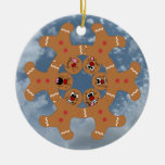 """""""The Ginger Boys"""" Gingerbread Skydiving Formation Ceramic Ornament"""