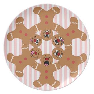 """The Ginger Boys"" Gingerbread Skydiving Formation Melamine Plate"