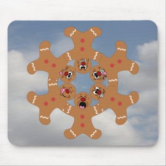 """""""The Ginger Boys"""" Gingerbread Skydiving Formation Mouse Pad"""