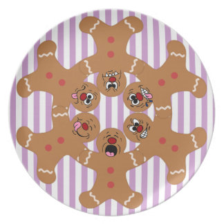 """""""The Ginger Boys"""" Gingerbread Skydiving Formation Plate"""