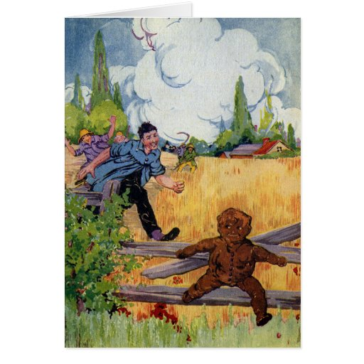 The Gingerbread Boy Escapes Greeting Card