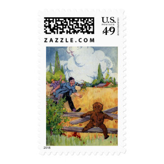 The Gingerbread Boy Escapes Stamps