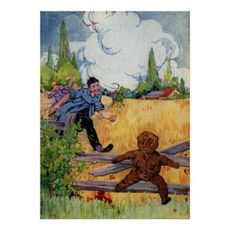 The Gingerbread Boy Escapes Poster