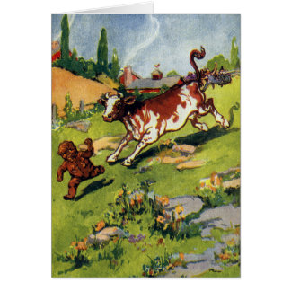 The Gingerbread Boy & the Cow Greeting Card